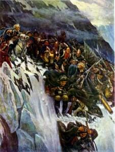 """Картина В. И. Сурикова """"Переход Суворова через Альпы в 1799 г.»"""
